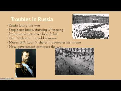 Review WWI & Russian Revolution