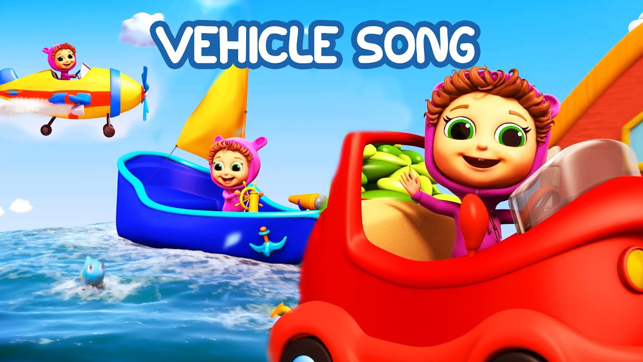 Vehicle Song Learn Colors Educational Nursery Rhymes
