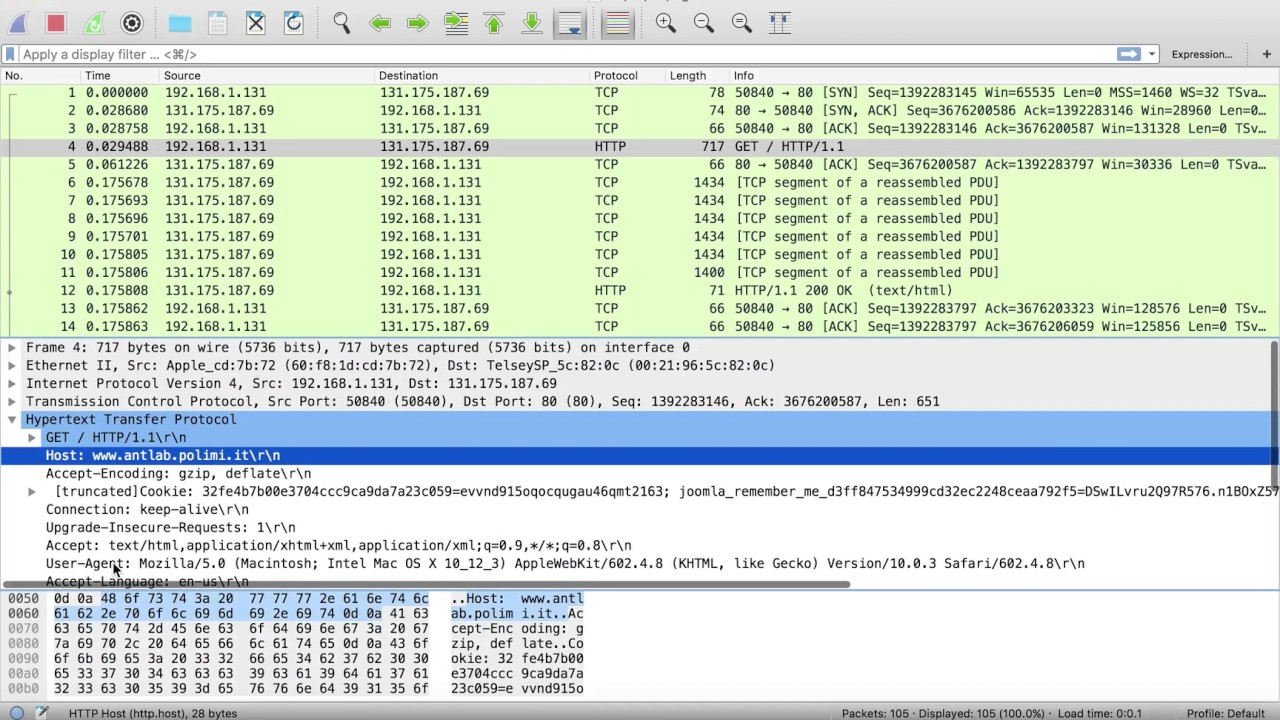 wireshark italiano