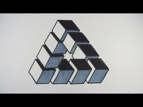 Penrose Triangle Cubes How to Draw an Impossi...