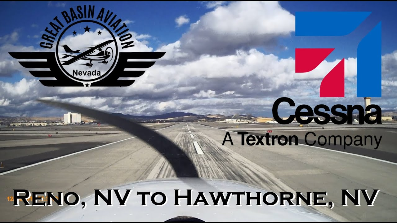 Cessna 172 Flight from Reno (RNO) to Hawthorne (HTH) (1/2 ...