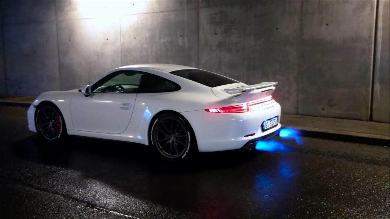 Porsche 991 1 Carrera S Insane Flames Amp Loud Revs W
