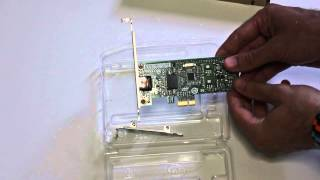 Intel EXPI9301CTBLK Desktop Adapter (PCIex NIC) Unboxing and Review.