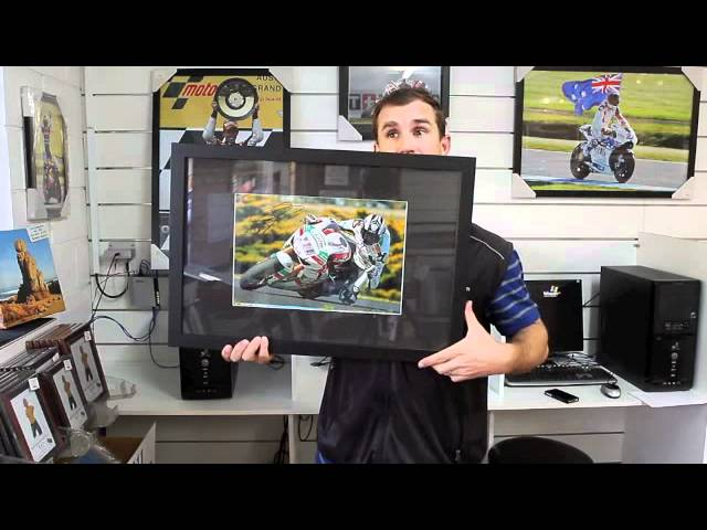 16x24 inch framed originally signed