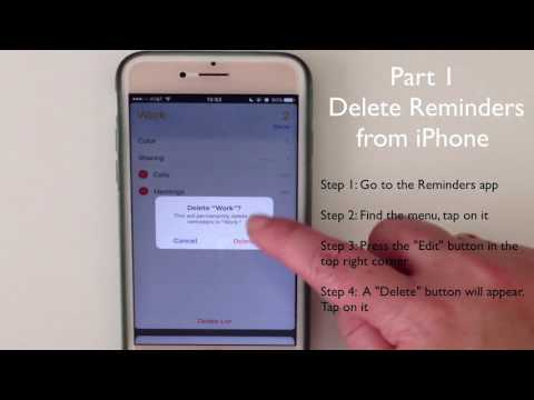 How to Permanently Delete Reminder Lists from iPhone