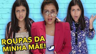 PROVANDO ROUPAS DA MINHA MÃE !!!