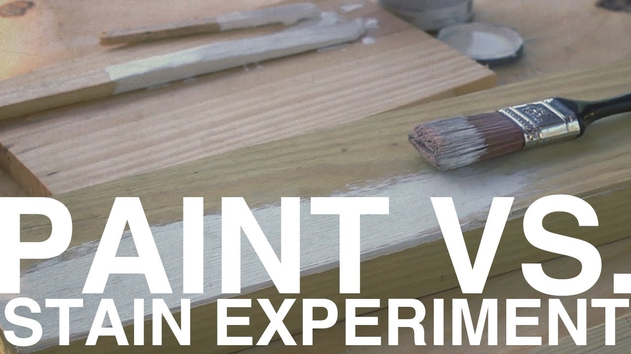 Paint vs Stain Experiment  Day 99  The Garden Home