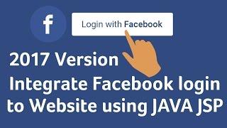 Enable Facebook login using JAVA J2EE for websites