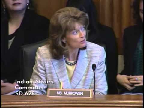 Senator Murkowski Discusses Housing in Alaska During a Senate Indian Affairs Committee