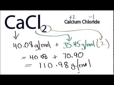 Molar Mass / Molecular Weight Of CaCl2
