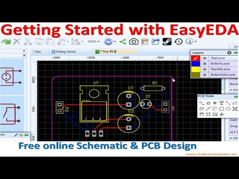 Getting Started With Easyeda Free Online Schematic Pcb Design Software Youtube