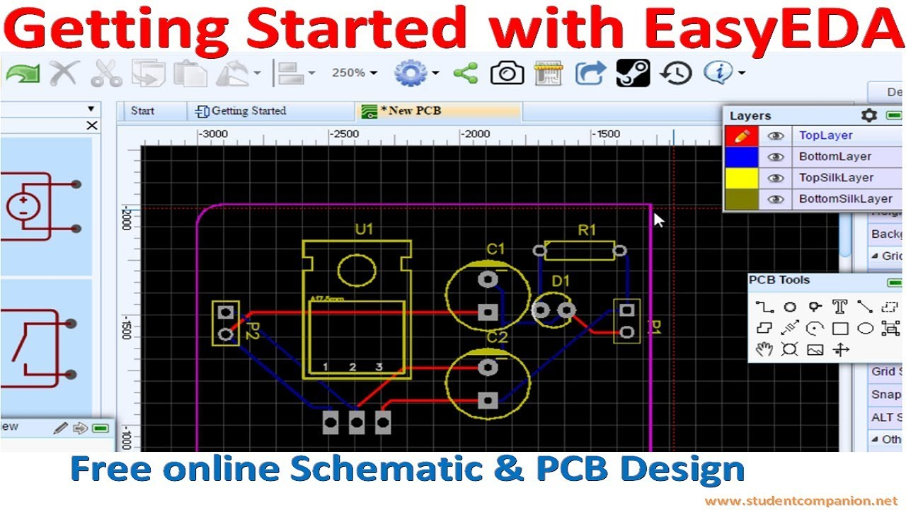getting started with easyeda free online schematic pcb. Black Bedroom Furniture Sets. Home Design Ideas