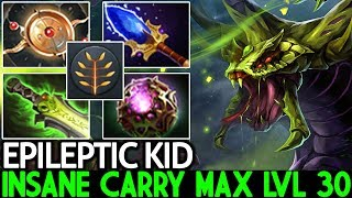 EPILEPTIC KID [Venomancer] Insane New Carry Max Level 30 Full Talent Tree 7.23 Dota 2