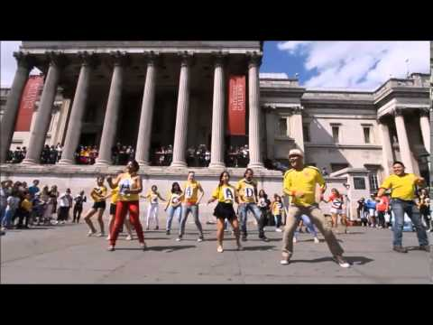 Flash Mob/Londres/Colombia Independence Day/ School of dance talentos