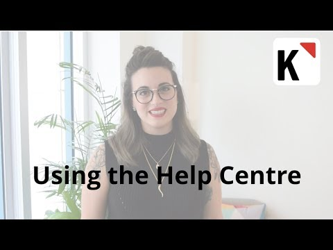 Using the Help Centre
