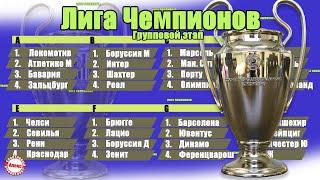 Лига Чемпионов 2020 2021 1 тур Группы E F G H Результаты расписание таблица