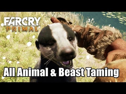 All Animal And Beast Taming Stats Abillties Far Cry Primal Youtube