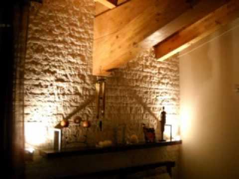rivestimento parete in pietra - YouTube