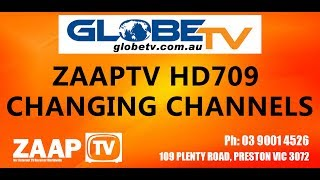 ZAAPTV HD709: Getting Started and Changing Channels