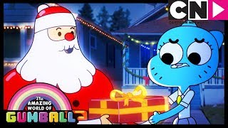 Gumball | Richard Steals Santa's Sleigh | Cartoon Network
