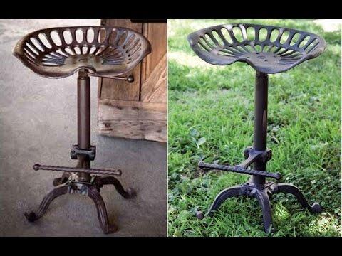 antique tractor seat bar stools