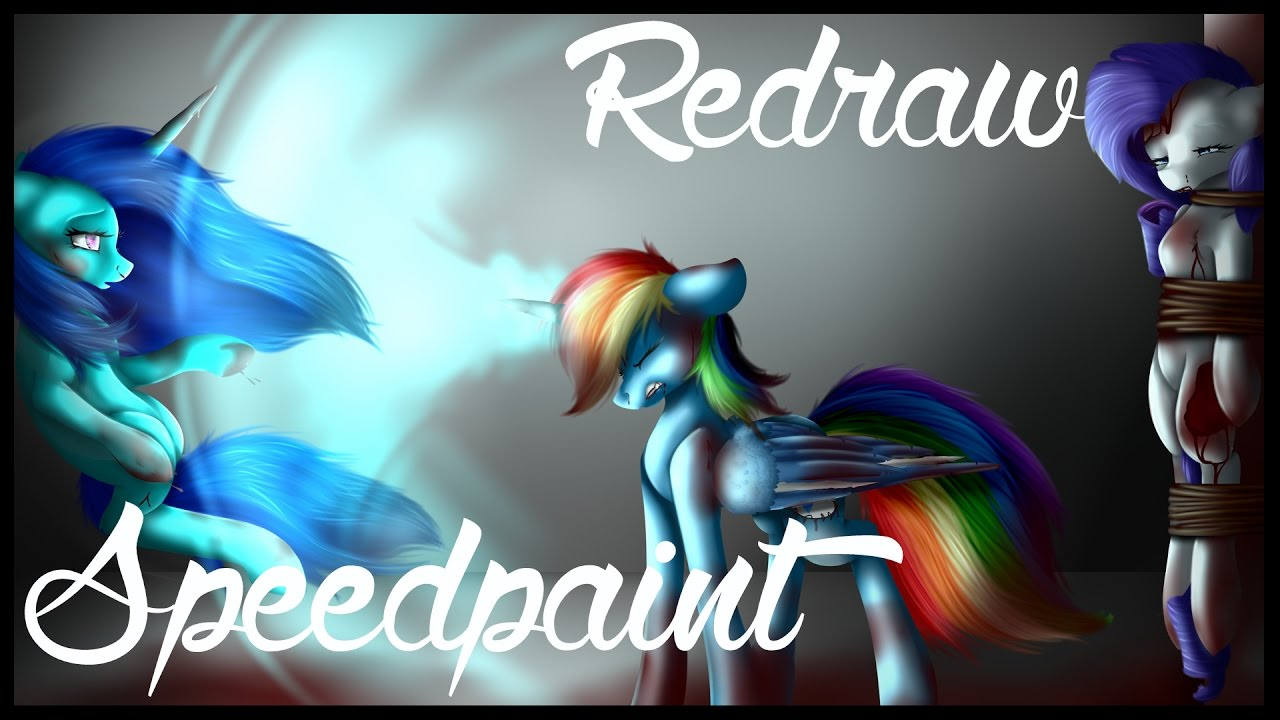 Speedpaint Mane 6 Creepy Mlp: Rarity Is Dead And Now I Kill You [Redraw]