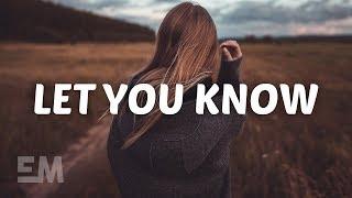 Sody - Let You Know (Lyrics)