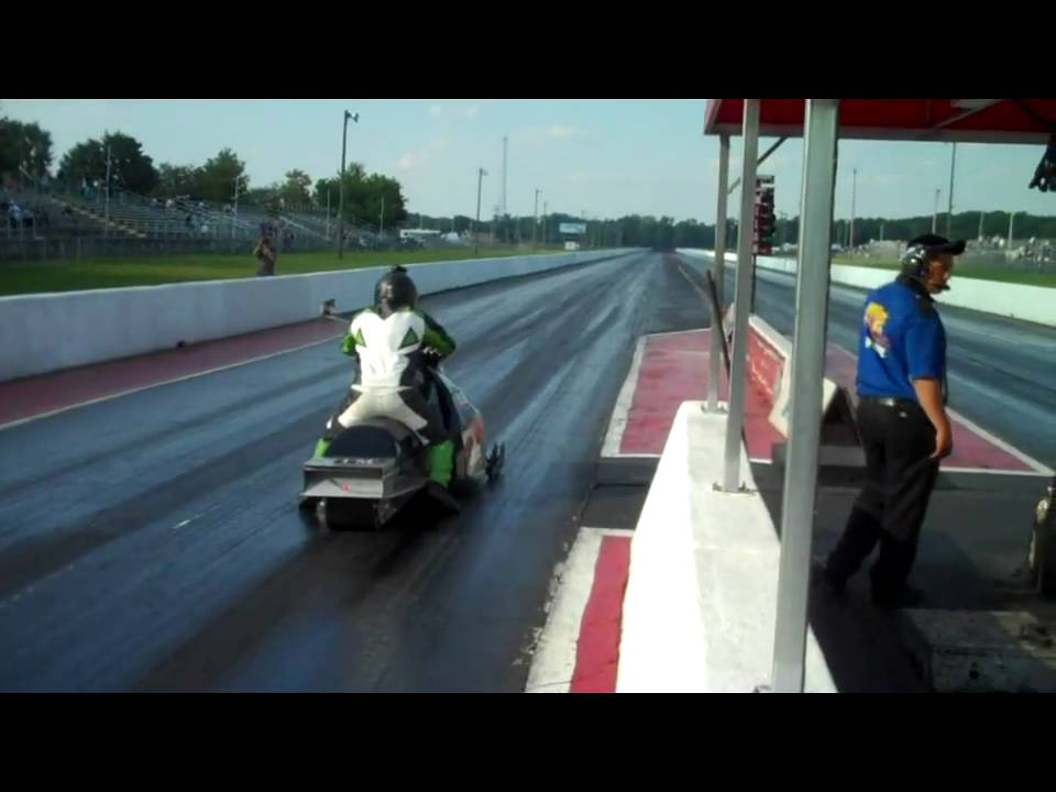OSP Racing & ROB fuller sets world record with snowmobile on asphalt 7 83  175 75mph 9-4-09