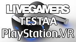 Sonyn PlayStation VR-laseja testaamassa