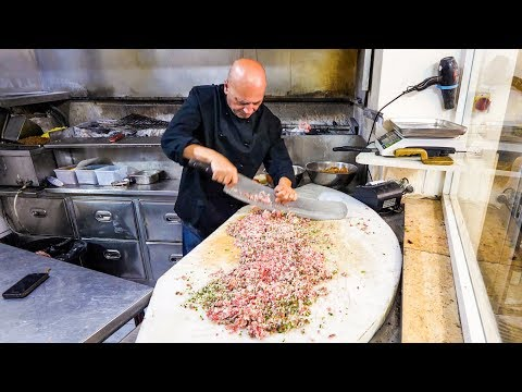 Thumbnail: INSANE KEBABS Handmade With a Sword - Palestinian Food in Nazareth!