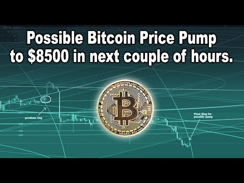 Possible Bitcoin Price Pump To $8500 In The Next Couple Of Hours. BTC Price Targets And Stocks & TA