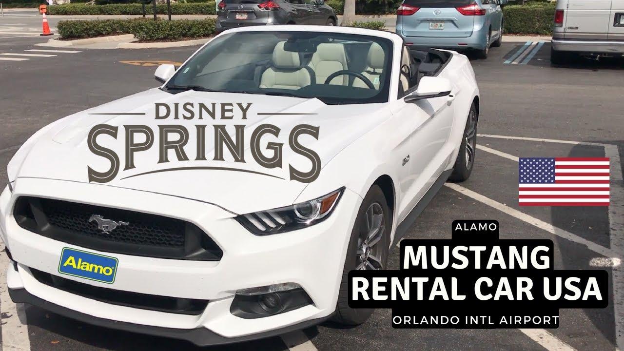 Mustang Rental car | Alamo | Orlando Intl Airport - YouTube