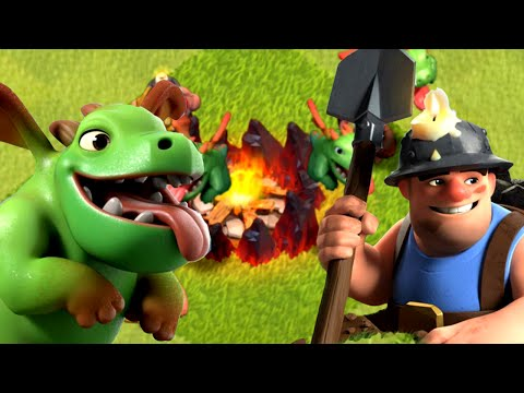 Clash of Clans - Baby Dragon & Miner COMBO! New Update Troops