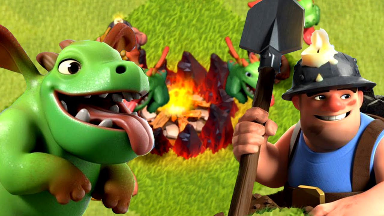 Clash of Clans - Baby Dragon & Miner COMBO! New Update Troops ...