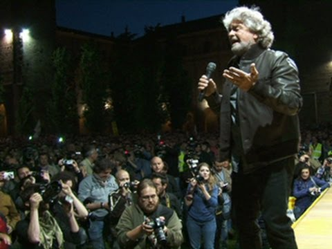 Beppe Grillo and the Five Stars Political Movement - Italy