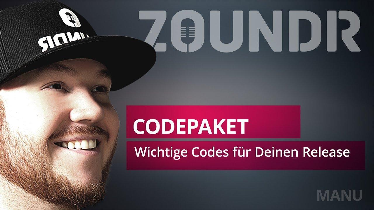 🎥Wichtige Codes für Deinen Release