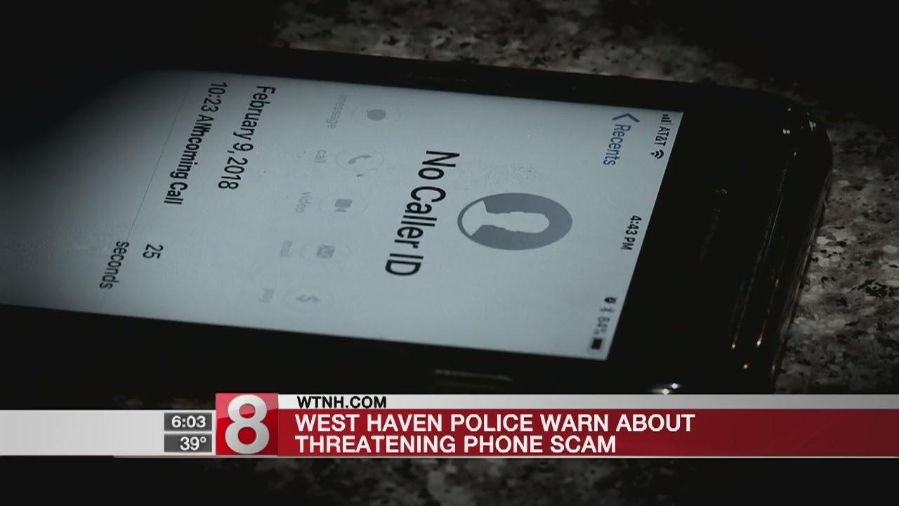 West Haven police warn of phone scam - Dauer: 30 Sekunden