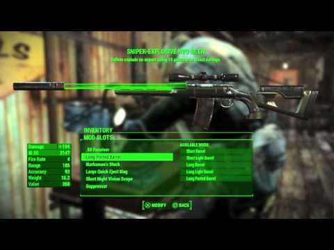 Fallout 4 – How to Easily Craft the Best Weapons & Armor / Inventory Management Tips