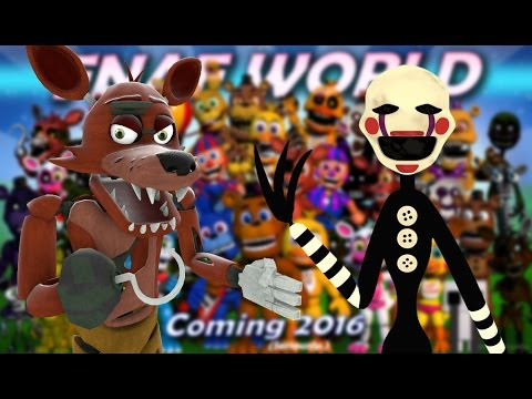 THE PUPPET AND FOXY REACT TO: Completed FNAF World Image
