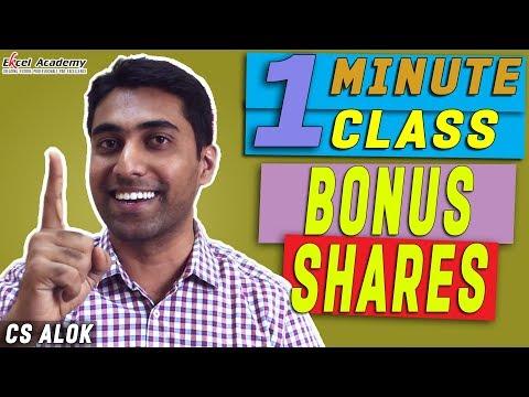 BONUS SHARES : 1 Minute class