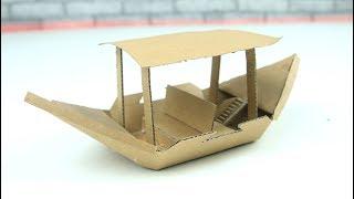 How to Make a Boat - cardboard DIY