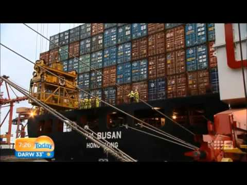 Channel Nine's The Today Show visits DP World Melbourne