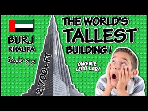 LEGO Architecture Burj Khalifa #21008 Time Lapse Build & Demo