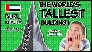 LEGO Architecture Burj Khalifa #21008 Time Lapse Build & Demo