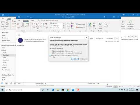 How To Recall Sent Email Message In Outlook - Office 365