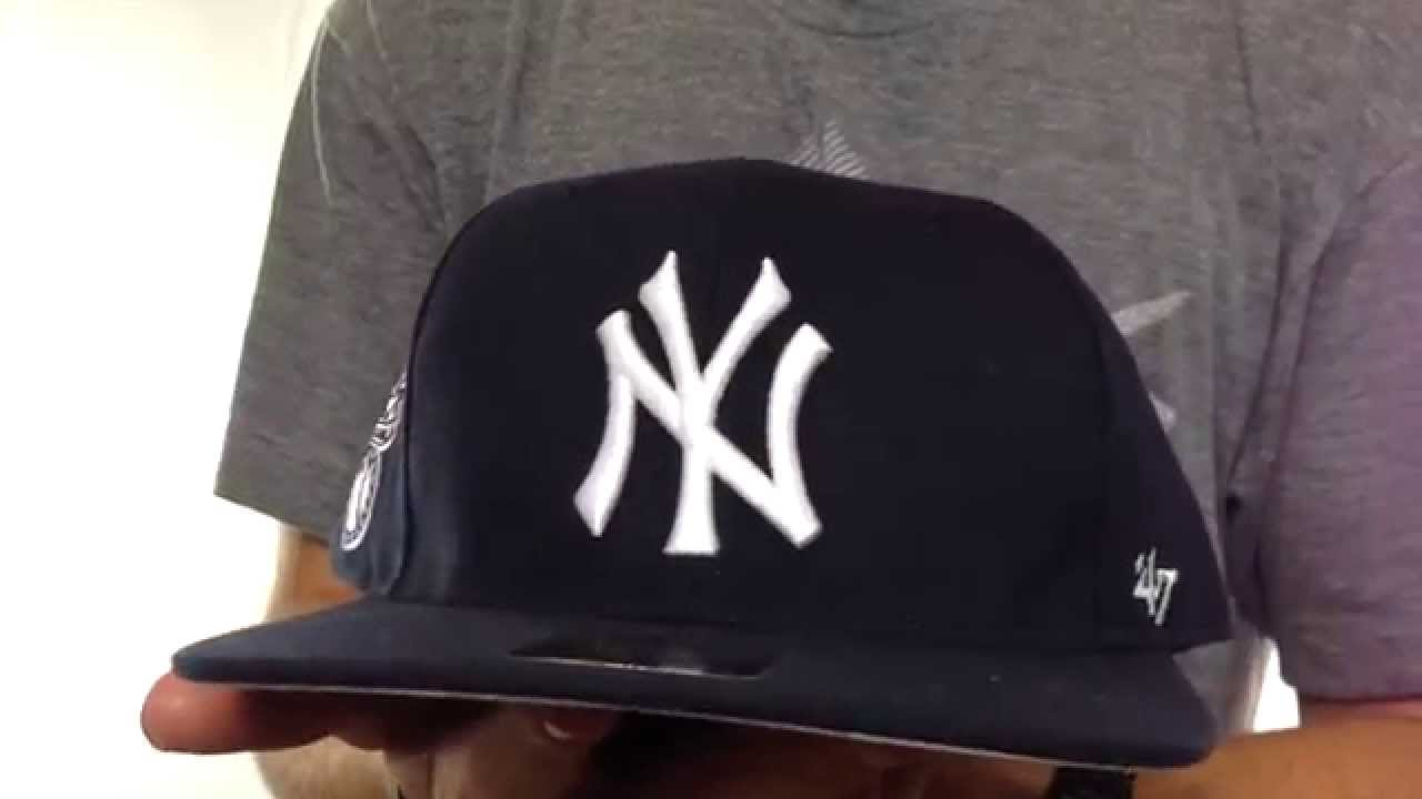 15bb7eca Yankees 'SURE-SHOT SNAPBACK' Navy Hat by Twins 47 Brand - YouTube