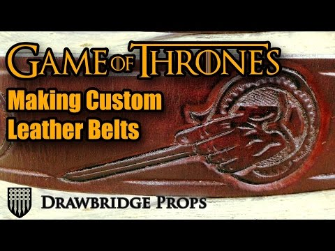 Making Tooled Leather Belts: Game of Thrones and Counter Intelligence