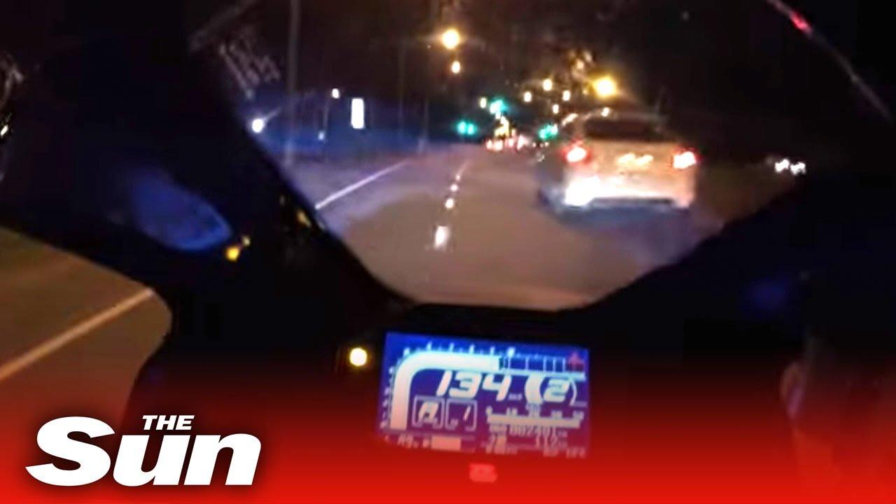 Download Biker speeds at 160mph in haunting clip before crash left him brain damaged