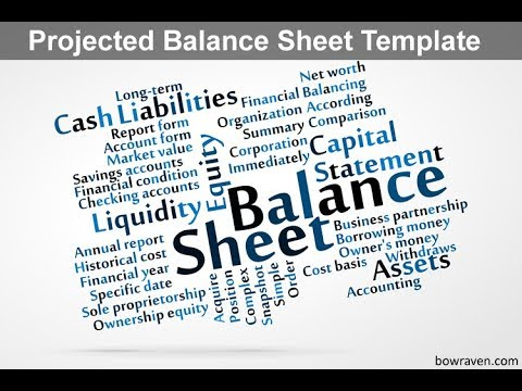 projected balance sheet template youtube