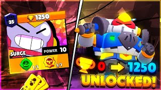 SURGE 0 To 1250 TROPHIES! Unlocking EVERYTHING In Brawl Pass with Code ASHBS